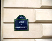 Champs Elysees Sign - Click to view details