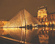 The Louvre at Night - Click to view details