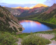 Snowmass Lake Sunset - Click to view details
